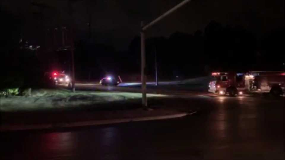Youngstown power outage after blown transformer on Shirley Road.