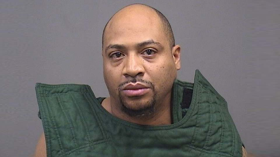 Elliott Hymes, charged with domestic violence and weapons charges in Youngstown.