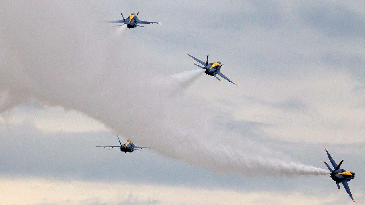 US Navy flight demonstration team, The Blue Angels.