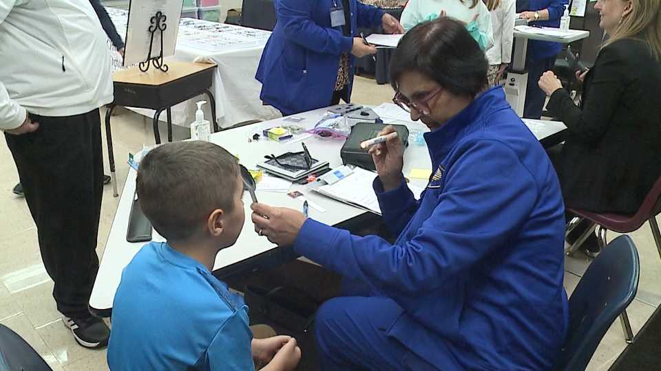 Crestview Elementary School eye exams