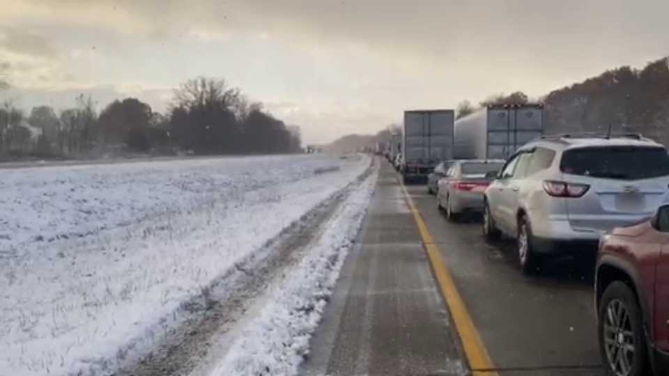 I-80 traffic backup in Mercer County
