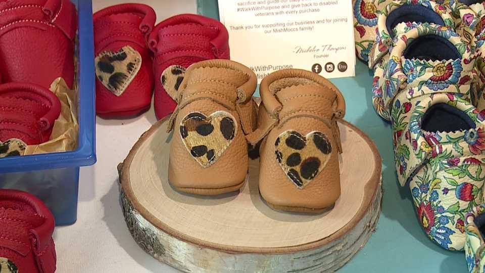 MishMoccs baby moccasins, Poland