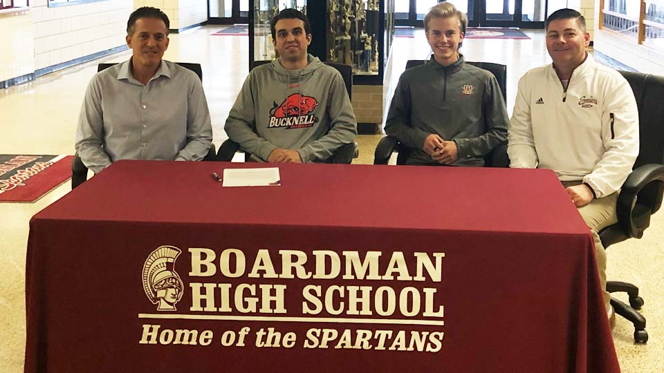 Noah Basista and Mitchell Dunham, Boardman, sign letters of intent