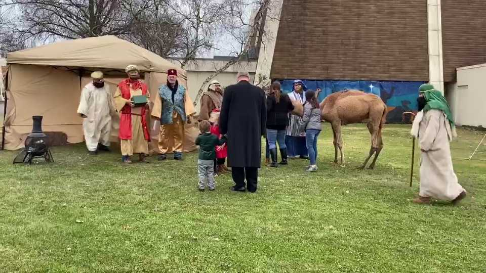 Disciples Christian Church in Boardman live Nativity