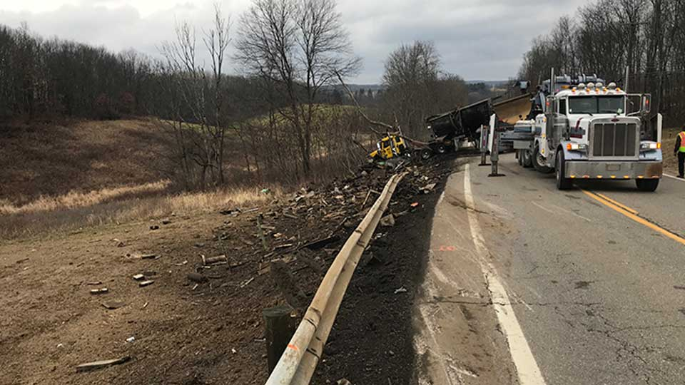 OH-39 reopened after a semi rollover near Wellsville, according to the Ohio Department of Transportation.