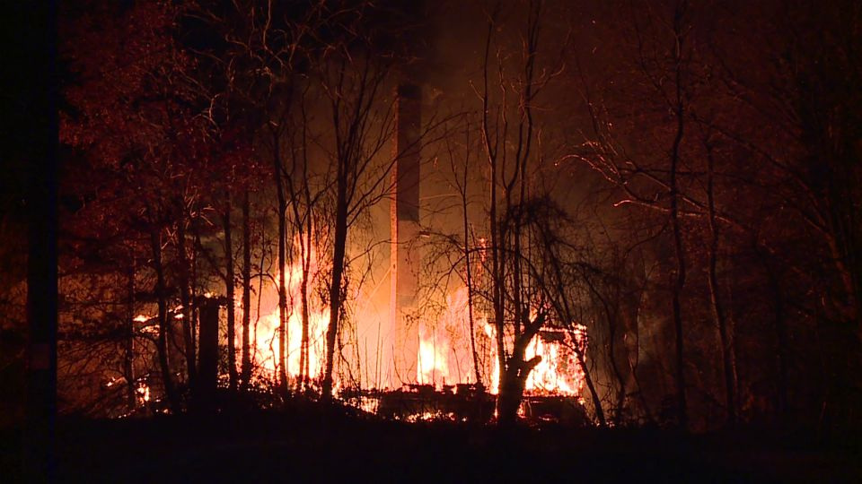 A vacant house was destroyed in Youngstown.
