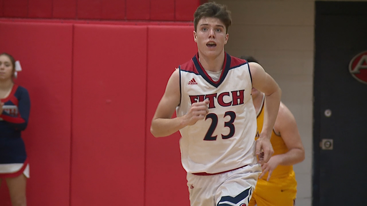 simons leads fitch past mooney with 27 points