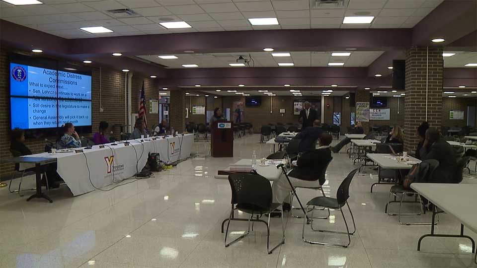 School leaders gathered at Choffin Career and Technical Center in Youngstown Saturday as part of a statewide conversation on leadership in urban schools.