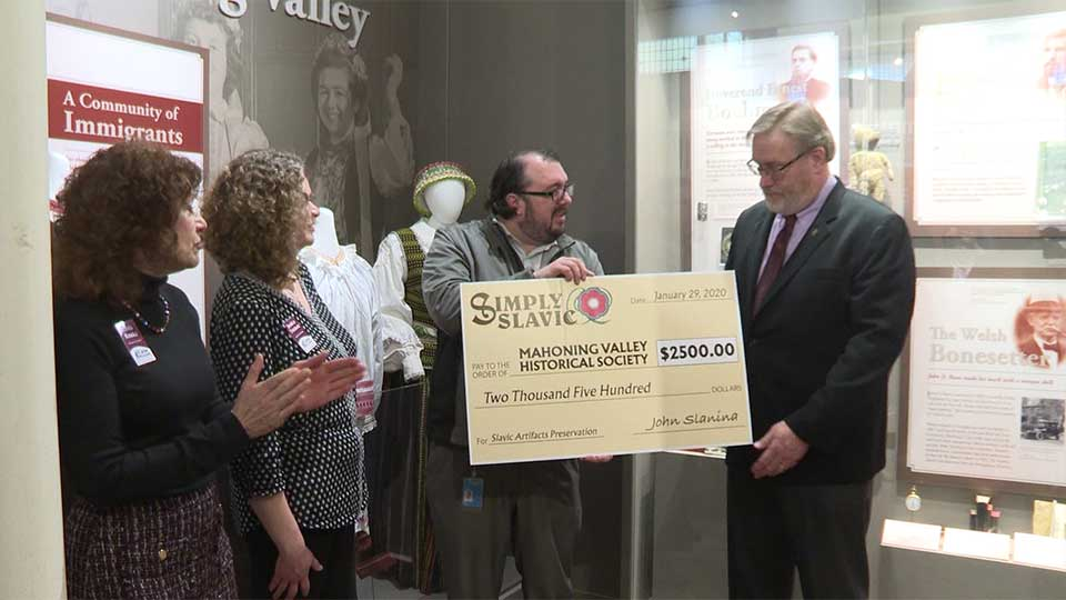 Simply Slavic gifted the Mahoning Valley Historical Society $2,500 during a presentation on Wednesday.