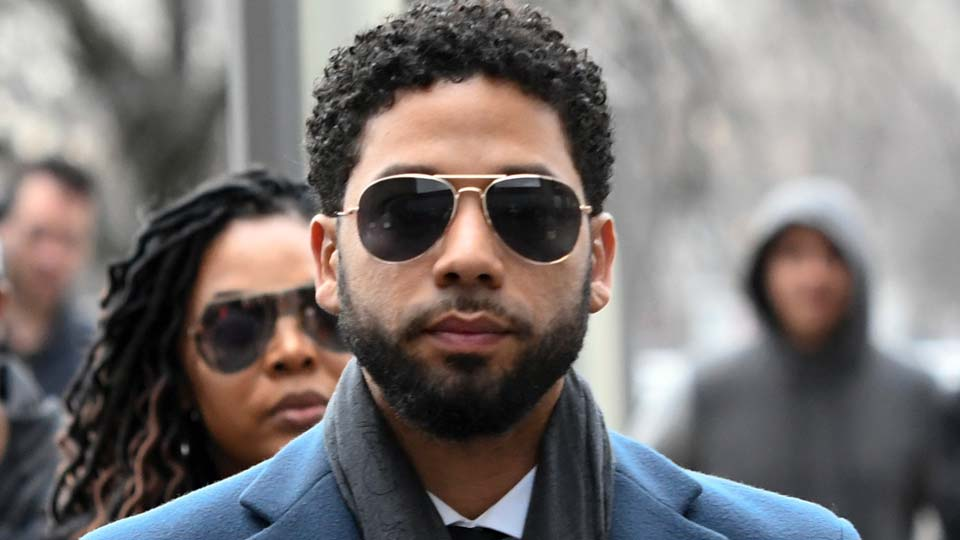 Empire actor Jussie Smollett arrives at the Leighton Criminal Court Building