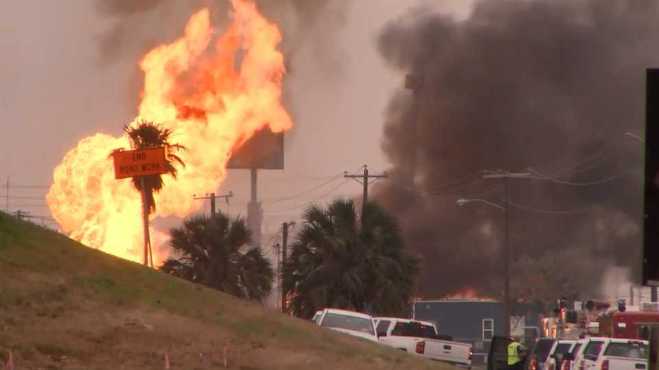 Corpus Christi gas line fire