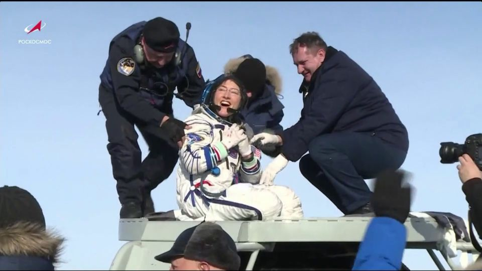 Christina Koch set a record for the longest single flight by a female.