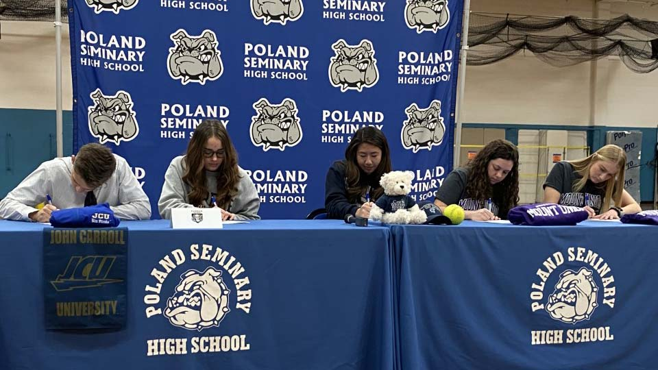 Poland High School students signing
