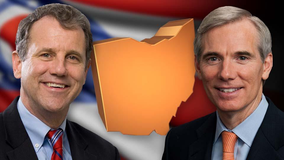 Rob Portman and Sherrod Brown, Ohio Senators.