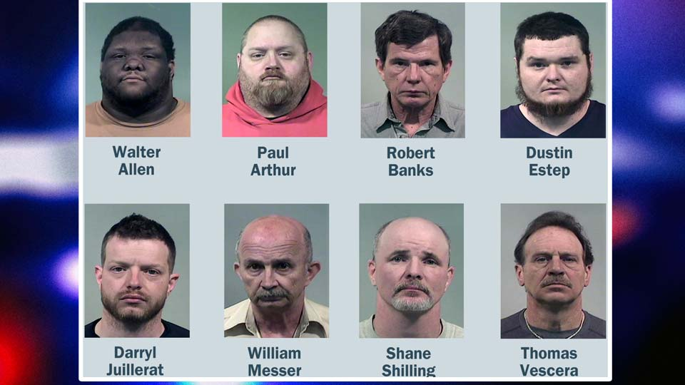 Eight people were arrested in a human trafficking sting in Trumbull County.