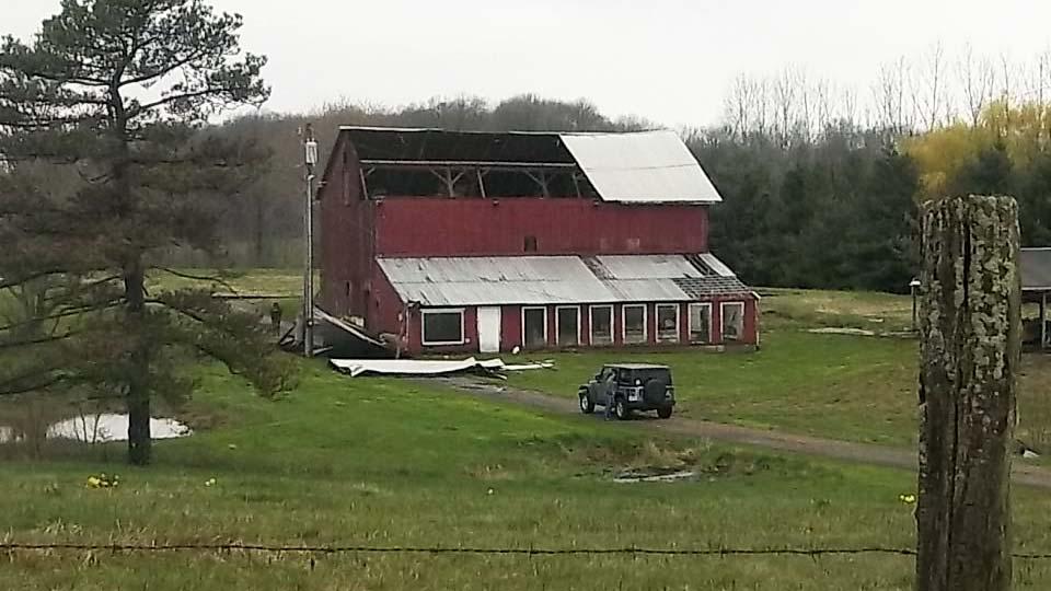 Storm Damage to Barn, Fairfield Township