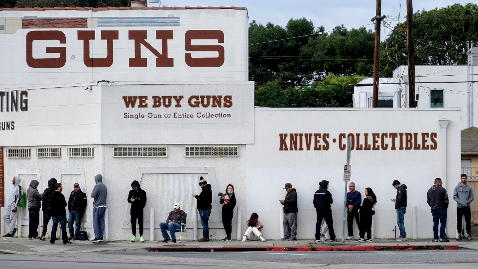 Gun background checks smash records amid coronavirus fears.