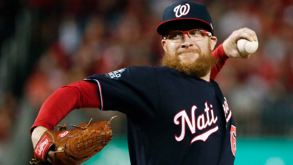 Washington Nationals relief pitcher Sean Doolittle