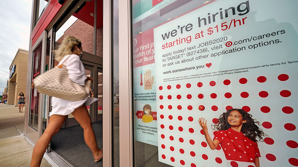 hiring sign Target, Uniontown, Pa