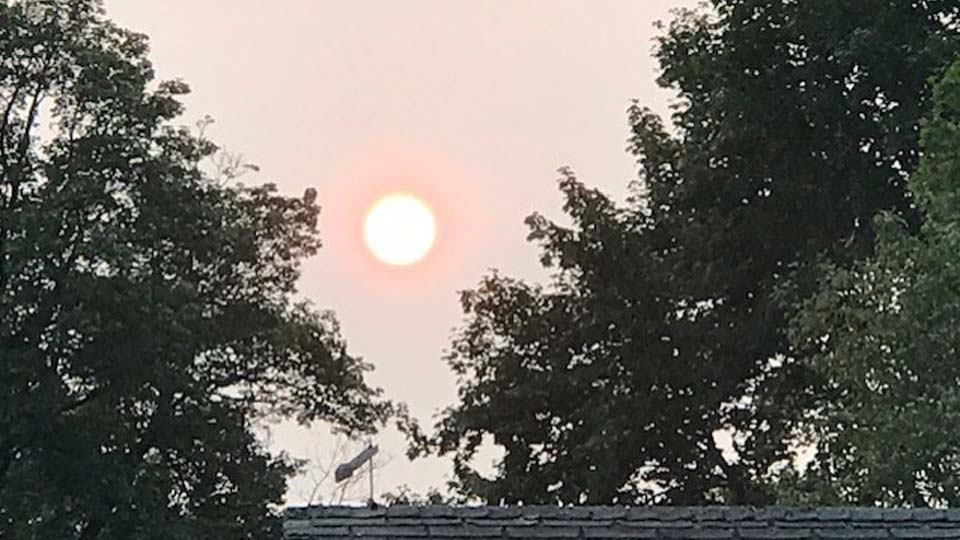 Smokey sunset, Greenville, Pennsylvania