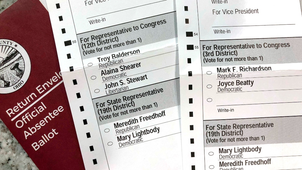 Mail-in ballot, election