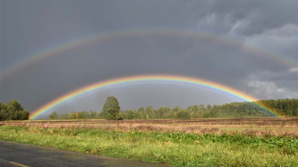 North Park Ave. Ext., North Bloomfield, double rainbow