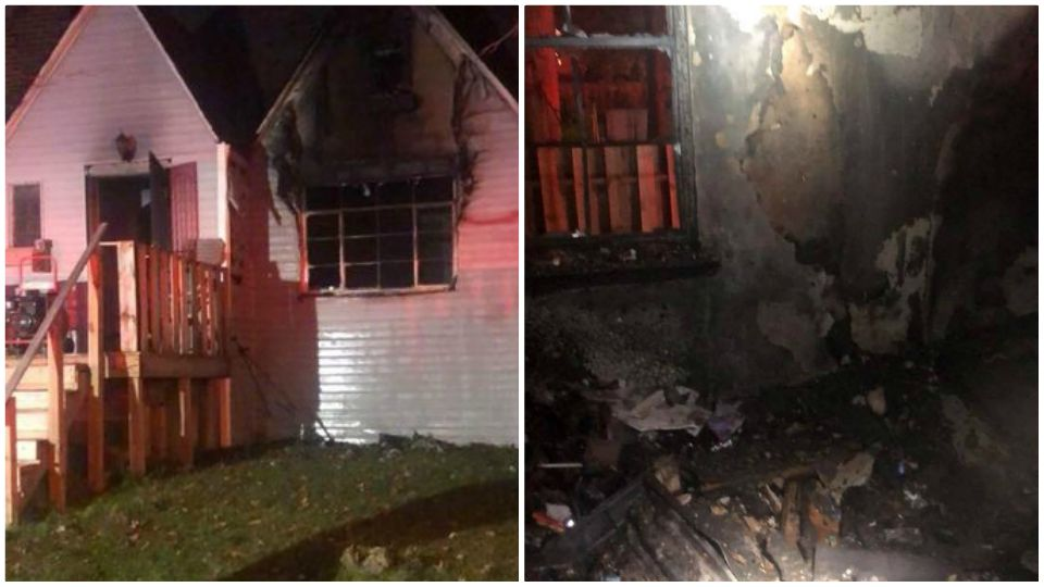 Everyone inside a house in Warren is okay after flames tore through the structure.