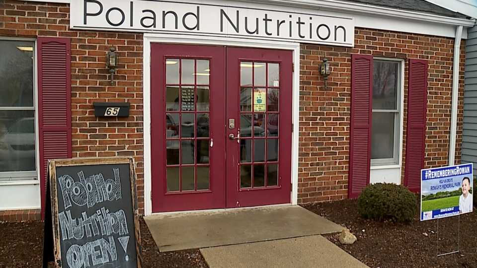 Poland Nutrition collected funds to donate to the Rowan Sweeney Memorial Park.