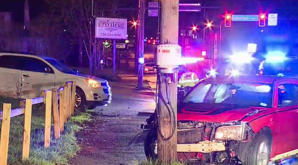 Crash on South Avenue in Youngstown