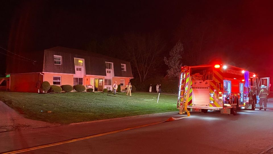Apartment fire, Santa Fe Trail, Boardman