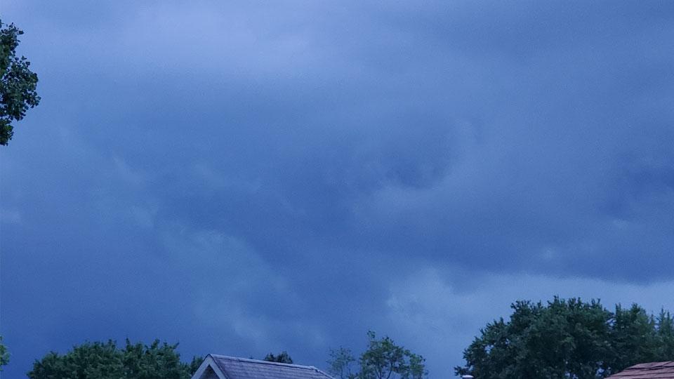 Wheatland, PA thunderstorm approaching
