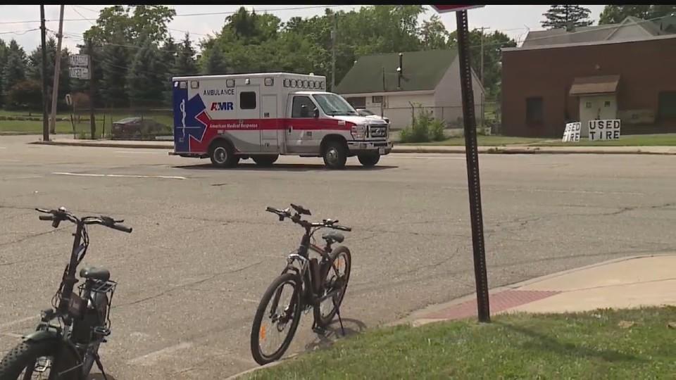 Youngstown bike vs car crash