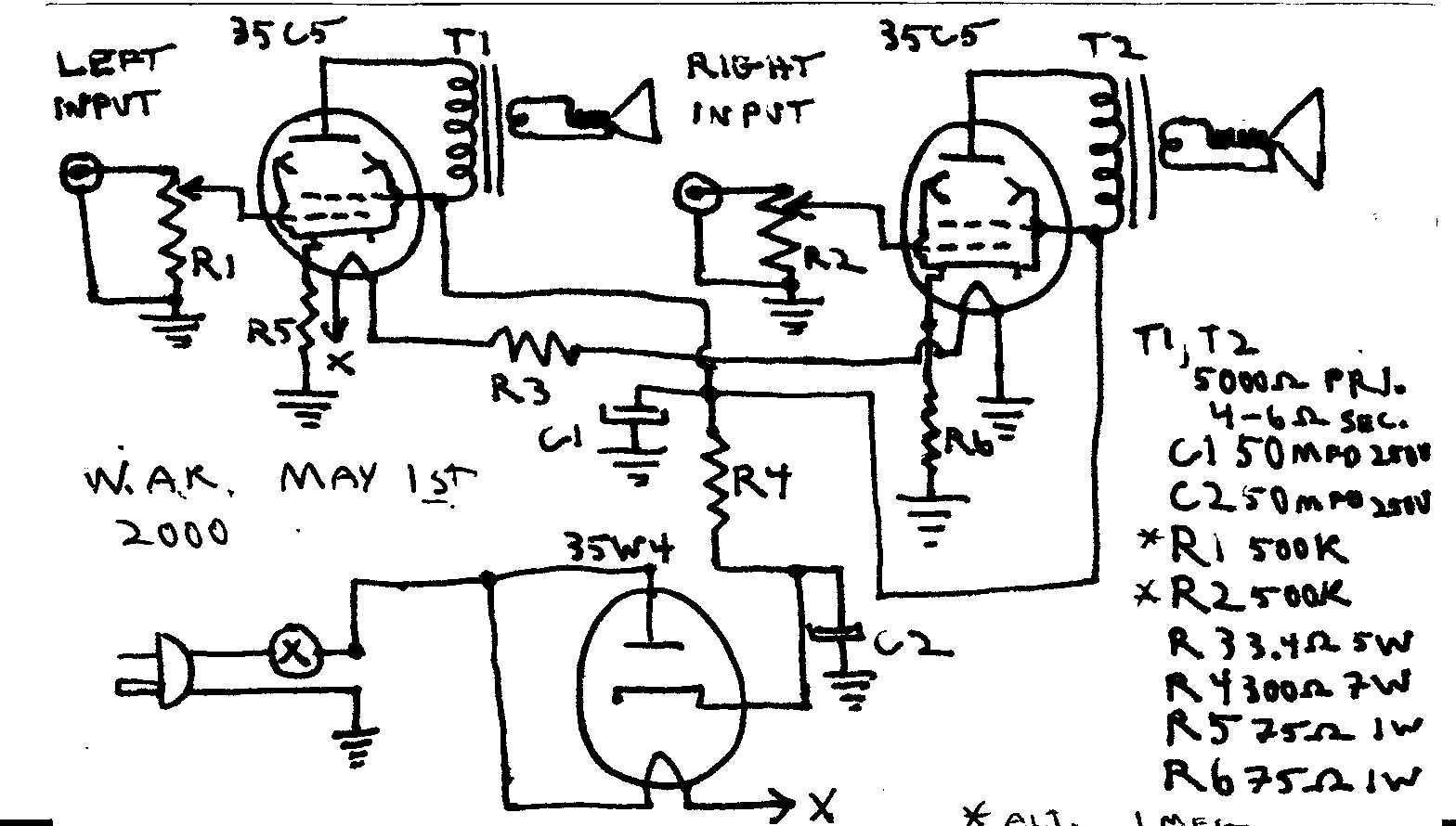 Kt88 Tube Amplifier Schematics, Kt88, Free Engine Image