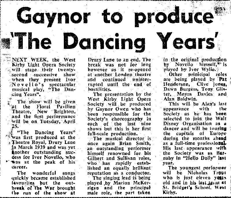 "1972 ""DANCING YEARS"""
