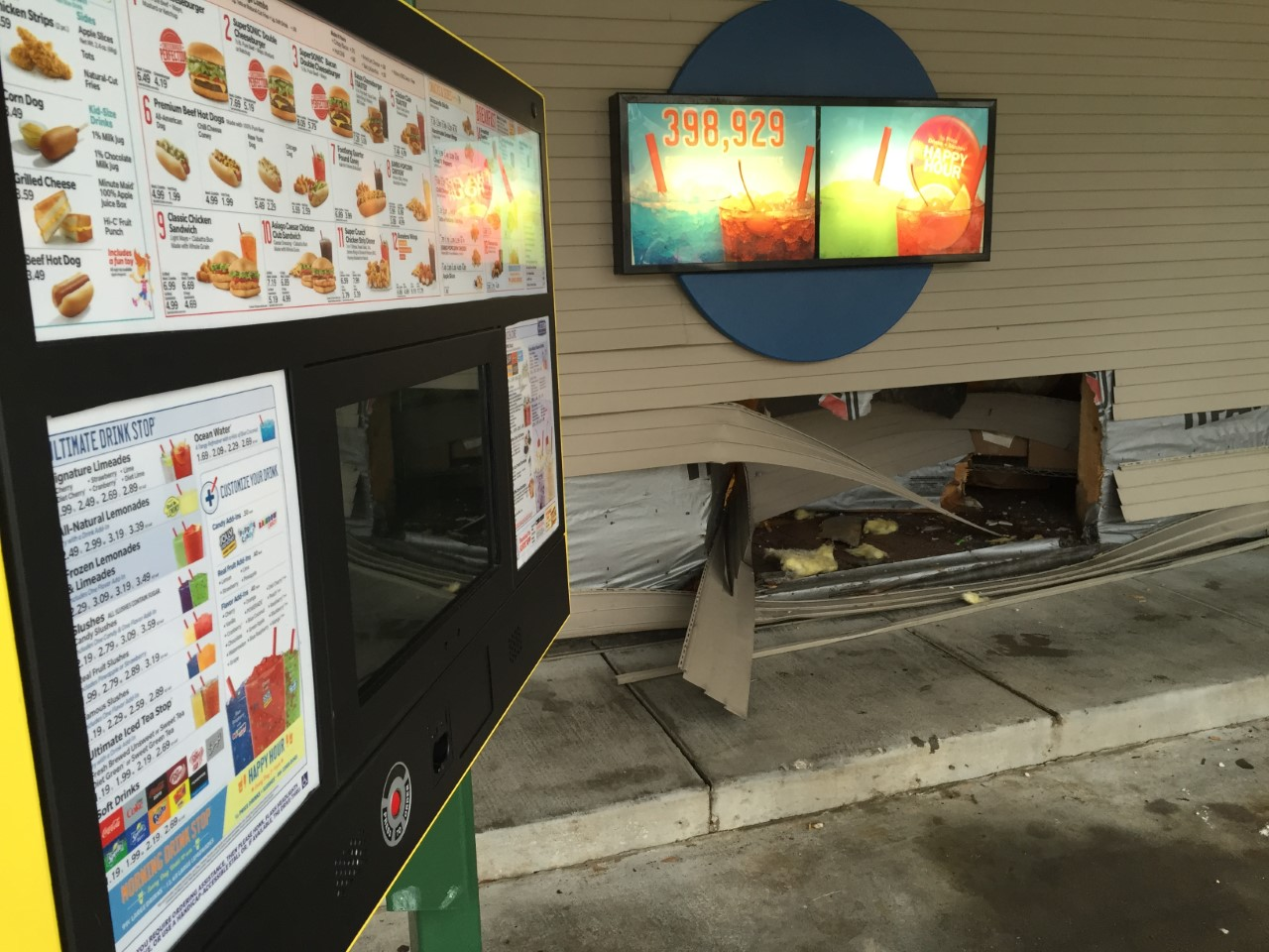 Car Drives Into Sonic_203676