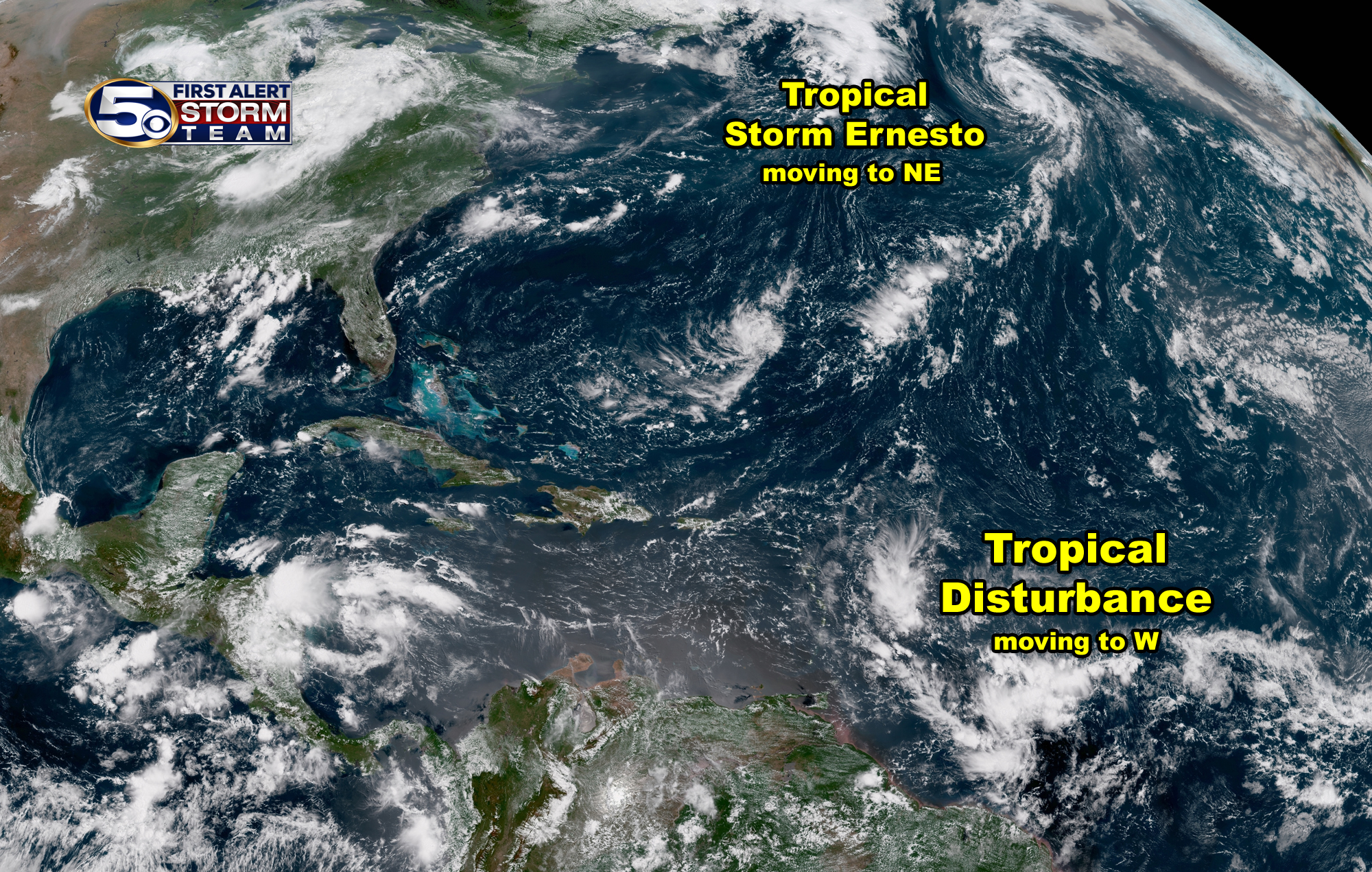Tropical Disturbance satellite