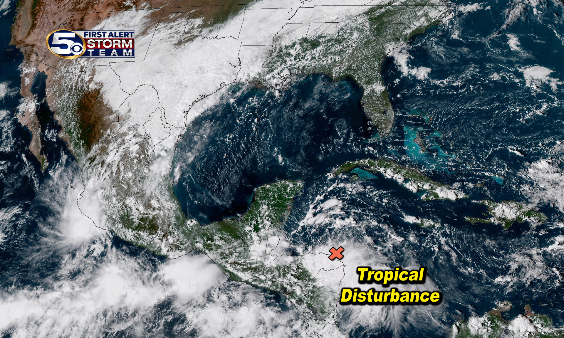 Tropical Disturbance near Honduras