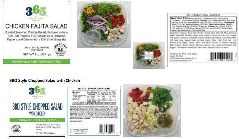 RECALL: Houston company recalls salad with chicken products