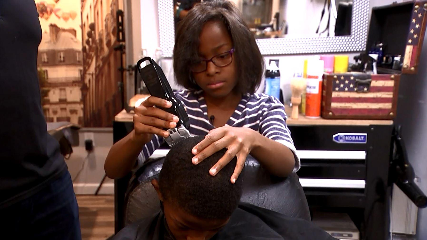 8-year-old girl becomes barber, gives free haircuts to neighborhood kids