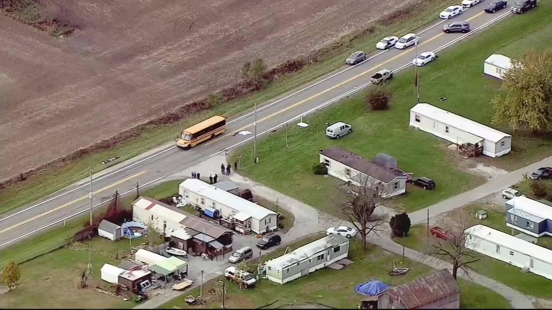 3 CHILDREN KILLED, 1 INJURED AT BUS STOP