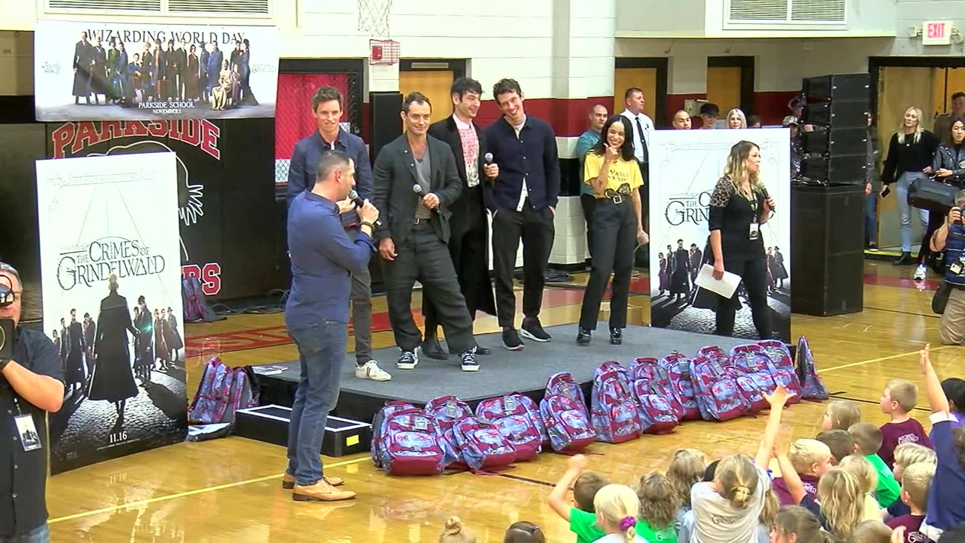 Fantastic Beasts cast visits Alabama school