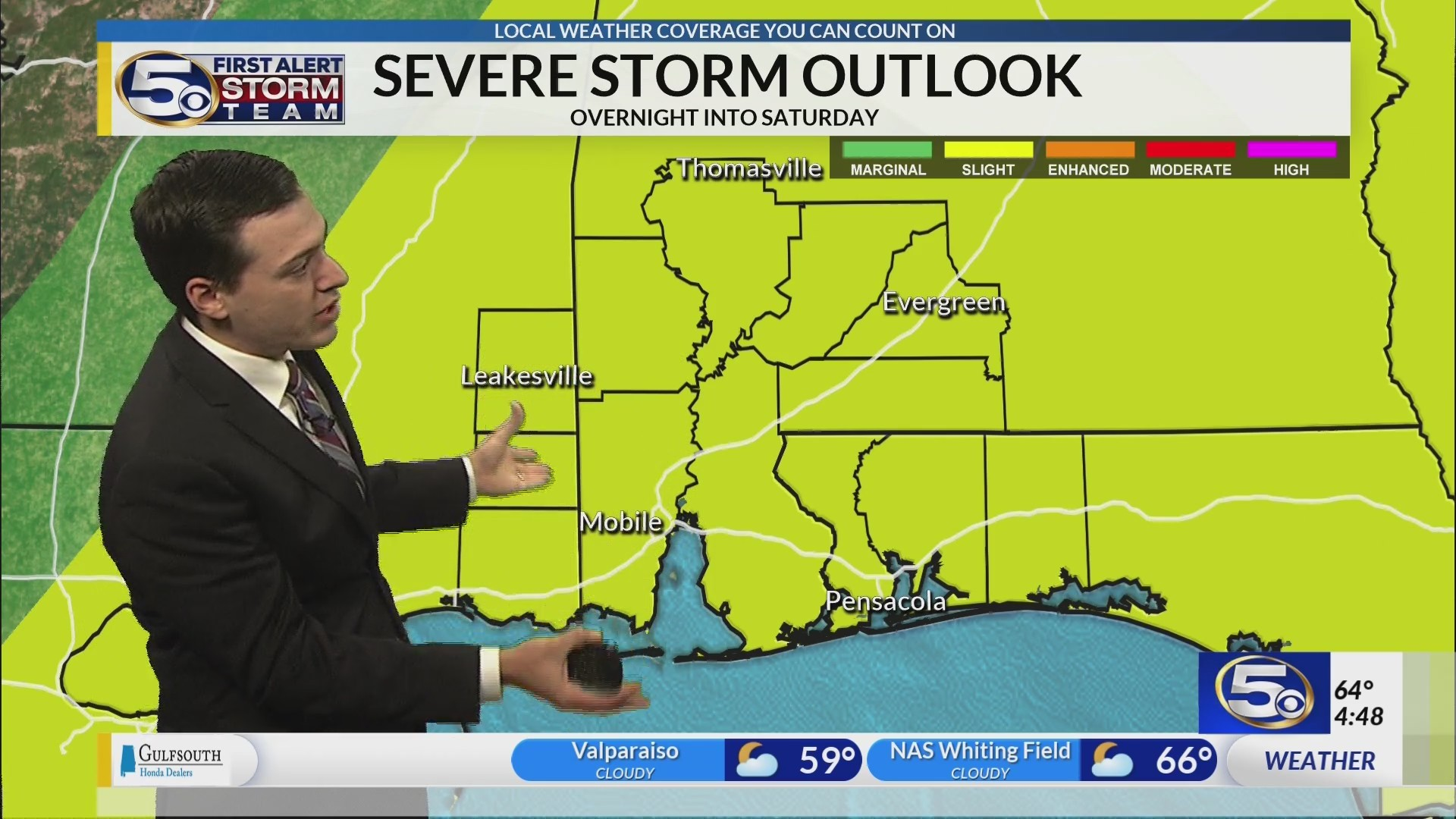 Strong thunderstorms possible tonight