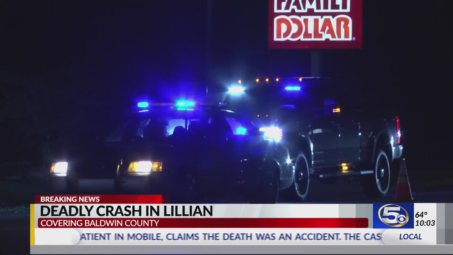 VIDEO: Deadly crash involving a pedestrian in Baldwin County