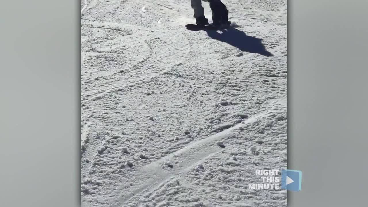 Right This Minute News Pop: A 2-Year-Old's First Time Snowboarding