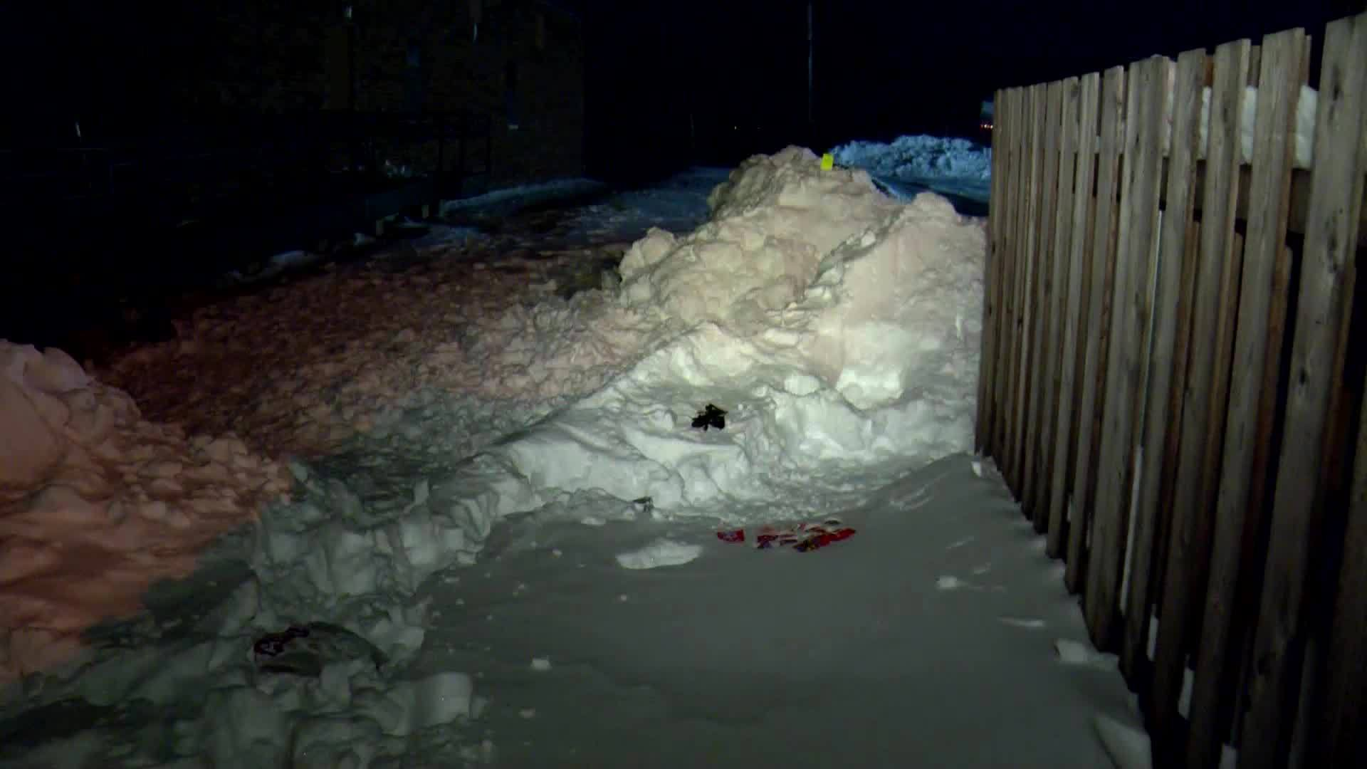 VIDEO: Fatal snow fort collapse