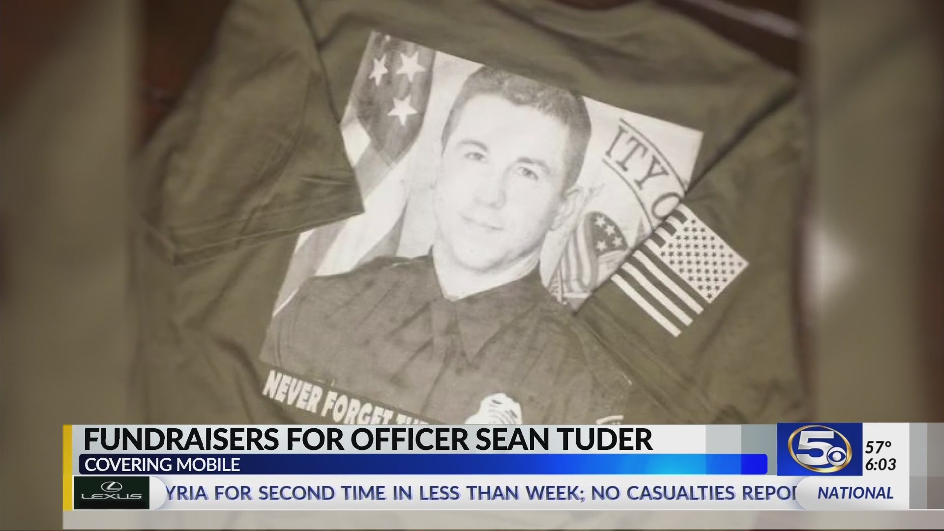 VIDEO: Local and out-of-state businesses start fundraisers for Officer Tuder's family