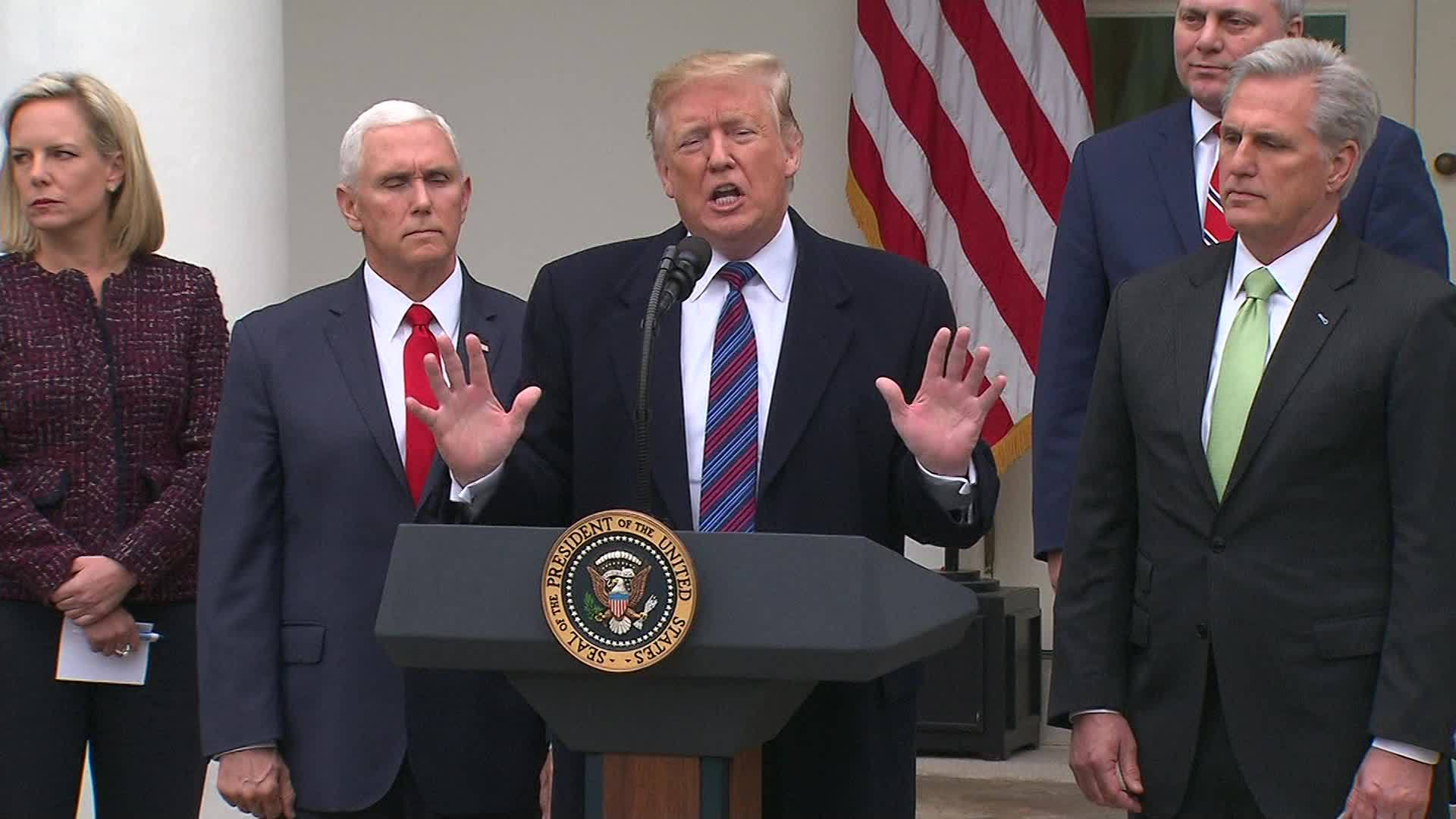 VIDEO: President Trump claims former presidents told him to build wall