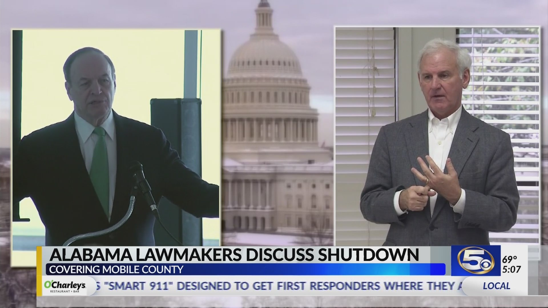 VIDEO; Senator Shelby, Congressman Byrne in town amid government shutdown
