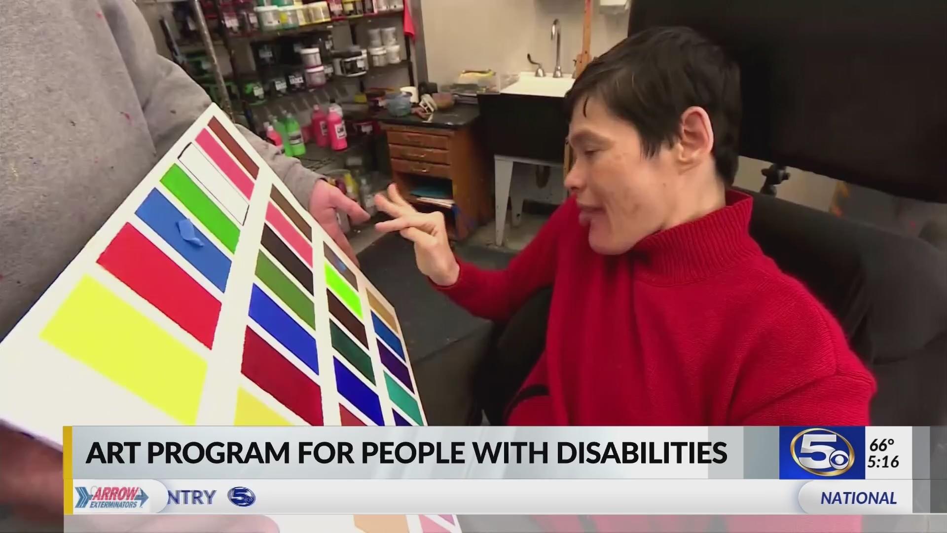 VIDEO: Arts program unlocks potential of severely disabled artists