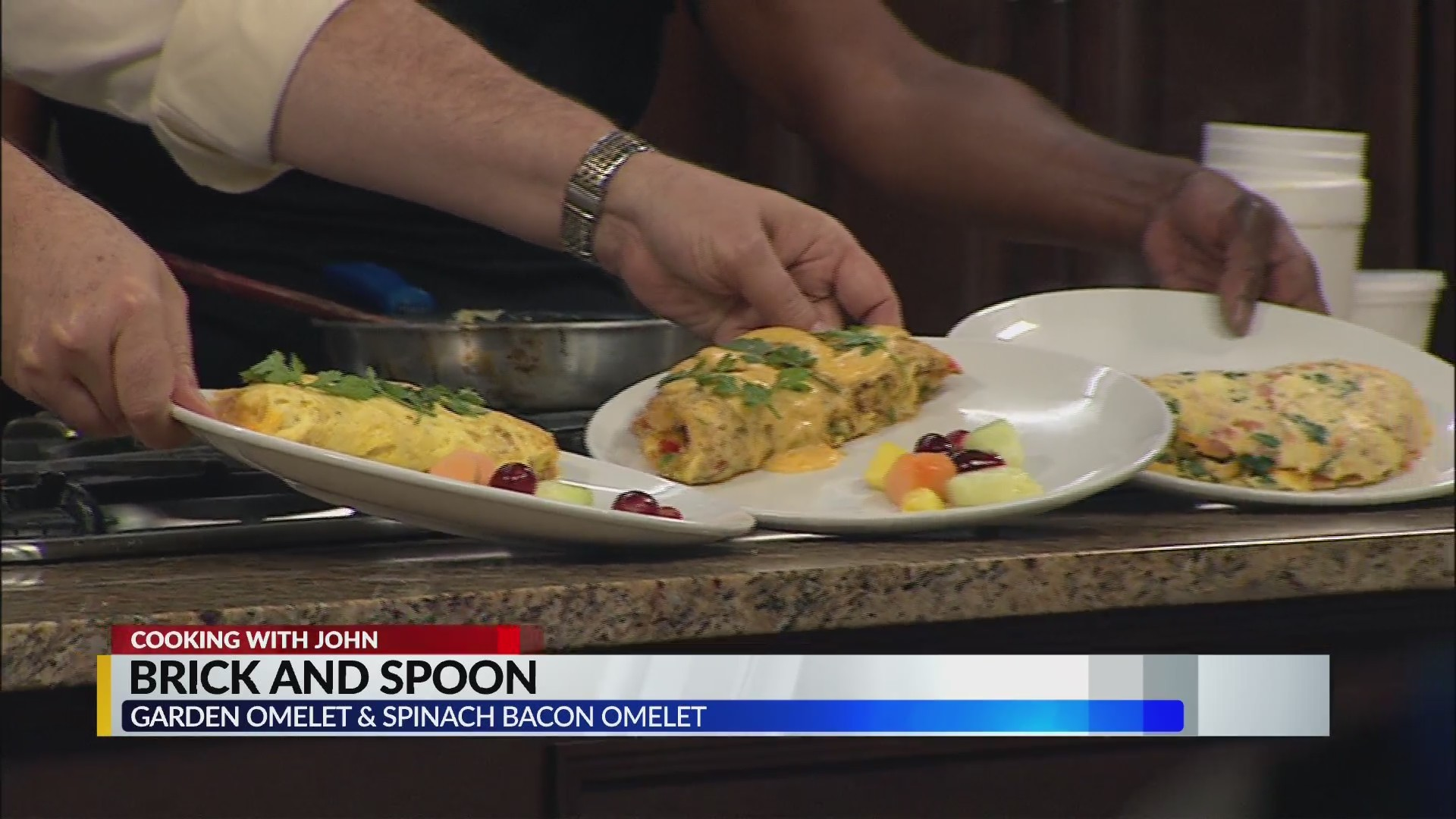 VIDEO: Cooking with John: Brick and Spoon's Garden Omelet & Spinach Bacon Cheese Omelet